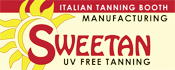 Only 01 Minute Process for a perfect tan totally UV FREE process with the Sweetan booth, a natural tanning for all type of skins at not risks, the Sweetan Booth is a made in Italy technology used for salons, spas, hotels, cruisers, and any wellness place. Sweetan it is the only tanning booth in the worldwide market UV FREE process designed and patented using INFRARED lamps for it's natural SAUNA process. UV FREE tanning avoing cancer providing wellness and business for Spas, Esthetic centers, hotels, salon... We are looking for worldwide distributors